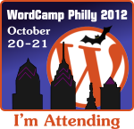 WordCamp Philly attendee badge