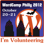 WordCamp Philly volunteer badge