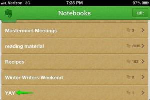 yay notebook from evernote