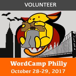 wordcamp philadelphia volunteer badge