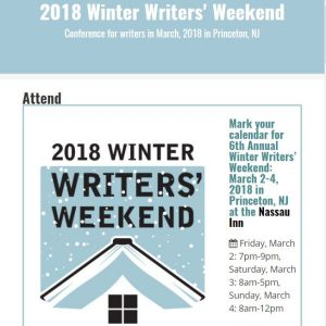 winter writers weekend website snapshot