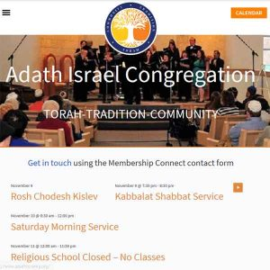 adath israel congregation front page