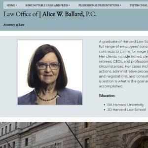 law office of alice w ballard front page